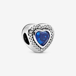 Pandora Sparkling Blue Heart Charm